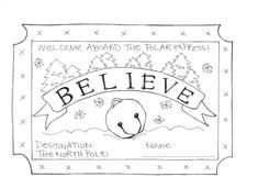 Believe Polar Express Coloring Page