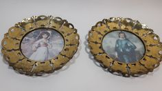Vintage Blue Boy and Pinkie  Victorian Style Frames COPPER PLAUQUE TYPE