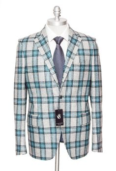 Bright colors abound, in this SARTORE Tartan Vitale Barberis Canonico Super 100's Wool Coat Jacket!  |  Get in there! http://www.frieschskys.com/blazers  |  #frieschskys #mensfashion #fashion #mensstyle #style #moda #menswear #dapper #stylish #MadeInItaly #Italy #couture #highfashion #designer #shopping
