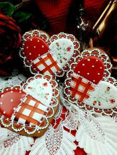 Valentine cookies by the always amazing Teri Pringle Wood!
