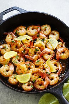 Brown Butter Lemon Garlic Shrimp - Garlicky, buttery, lemony goodness in each bite and the shrimp can be served with pasta, rice or salad | rasamalaysia.com