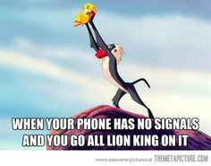 no cell phone signal - totally relatable