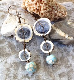 Wild women Lampwork glass earrings