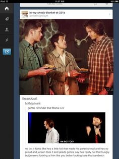 MIsha's only 6'...compared to Jensen and Jared