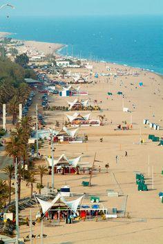 Beach, Calella de la Costa , Barcelona province, Catalonia