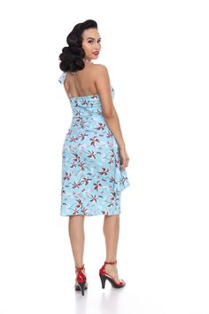 Hilo Honey Sarong Dress in Palm Trees