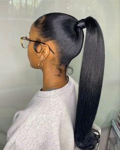 Hair Ponytail Styles, Weave Ponytail Hairstyles, Slick Hairstyles, Sleek Ponytail, Baddie Hairstyles, Black Girls Hairstyles, Protective Hairstyles, Birthday Hair, Natural Hair Styles