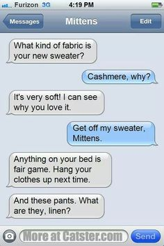 Mittens likes cashmere