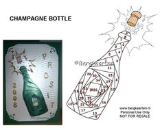 Irisvouwen: Champagne Bottle