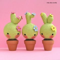 Willy-Nilly Waterlily: crochet cactus