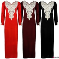 LADIES LONG SLEEVE NIGHTDRESS NIGHTY KAFTAN EMBROIDERY DETAILED PLUS SIZE 16-20 in Clothes, Shoes & Accessories, Women's Clothing, Lingerie & Nightwear   eBay
