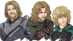 Boromir, Faramir, Pippin - Oh my gosh, whoever is making these is REALLY talented!!!! These are awesome!!!!
