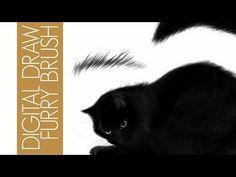 (35) Come Creare un pennello pelo | tutorial Disegno digitale Photoshop italiano - YouTube