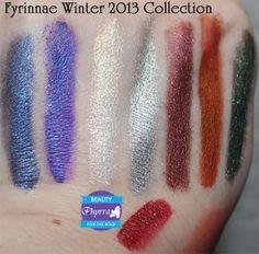 Fyrinnae Winter 2013 Review. Pin now, play later! #vegan #crueltyfree #beauty #makeup #eyeshadow #fyrinnae