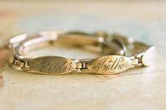 Victorian Family Bracelet rosy gold filled by 716Buffalos on Etsy