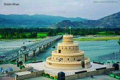 Awesome view of beautiful Shamzoi bridge beauty in Swat valley Khyber Pakhtunkhwa Pakistan