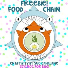 Freebie! Food Chain Craftivity by Sue Cahalane, ScienceForKidsBlog.blogspot.com