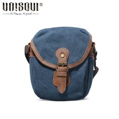 7f967ca715e7 UNISOUL Mini Canvas Bag Men Vintage Small Messenger Bags High Quality Crossbody  Male bags Mobile Phone Men s Shoulder Bags