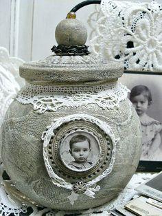 SO PRETTY !!!!!!! altered jar