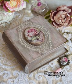 """Шкатулка-книга """"Memory"""""""" и медальон ручной работы – купить в интернет-магазине на Ярмарке Мастеров с доставкой - F5INRRU"""