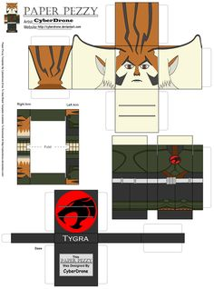 Paper Pezzy- Tygra '2011' by CyberDrone.deviantart.com on @deviantART