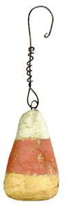 Primitive Candy Corn Ornaments. Perfect Country Halloween Decoration for Halloween Trees. A Johanna Parker Design.