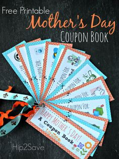 """Give your mom a special """"coupon"""" book for Mother's Day. Allow her to redeem a movie night, time for herself and so many helpful activities that will make her smile."""