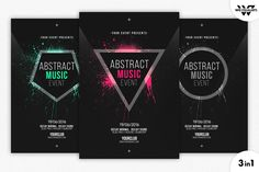 MINIMAL ABSTRACT Flyer Template by WG-VISUALARTS on Creative Market