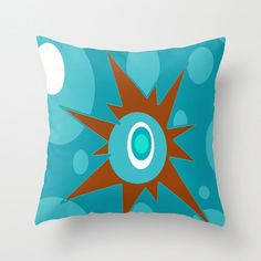Mod Blue Throw Pillow