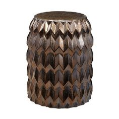 Shop for LS Dimond Home Chevron Bullet Stool. Get free shipping at Overstock.com - Your Online Garden