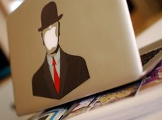 Rene Magritte (one of my favorite artists) MacBook Decal