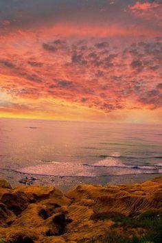 ocean beach sunset, San Diego, California