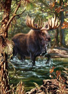 клипарты для декупажа лесные животные в живописи