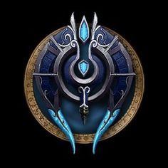 Change the High Elf crest to match less with blood elven culture. High elves should honor their heritage but also honor the rides and changes they've had to make in order to keep a seperate identity. Fantasy World, Fantasy Art, Game Design, Icon Design, Armadura Ninja, Lich King, Elfa, Night Elf, Concept Weapons