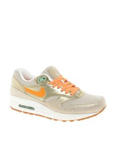 How many pairs of gold shoes can I own? Nike Air Max 1 Prm Gold Trainers