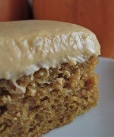 4 eggs  1 2/3 cups granulated sugar  1 cup vegetable oil  15-ounce can pumpkin  2 cups sifted all-purpose flour  2 teaspoons baking powder  2 teaspoons ground cinnamon  1 teaspoon salt  1 teaspoon baking soda  Icing  8-ounce package cream cheese, softened  1/2 cup butter or margarine, softened  1/4 cup plus 1 tbsp Dulce de Leche  2 cups sifted confectioners' sugar  1 teaspoon vanilla extract by esmeralda