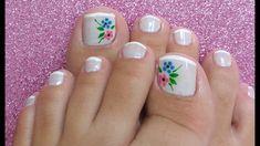 Resultado de imagen para unhas decoradas Pedicure Designs, Nail Designs, Nail Tips, Toe Nails, Nail Art, Makeup, Beauty, Roxy, Inspiration