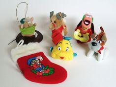 Vintage Walt Disney McDonalds Plush Movie Character Ornaments and Stocking   eBay