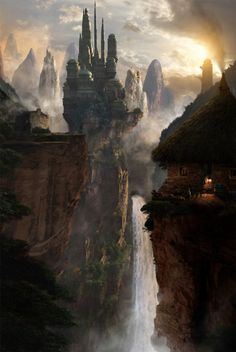 "fantasy-art-engine: "" Fantasy Castle by Richard Scott "" Inspiration for the Empyrean City."