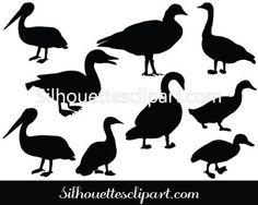 Duck Silhouette Vector Clipart