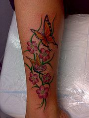 #floral #butterfly #tattoo