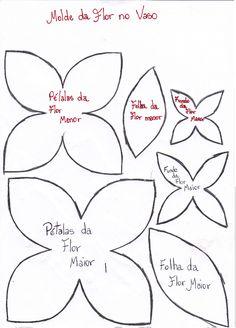 Jel Artes em E.V.A: molde das flores que fiz