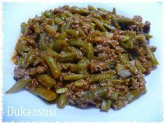 Recetas Dukan - Dukansusi: Judías verdes a la boloñesa Dukan