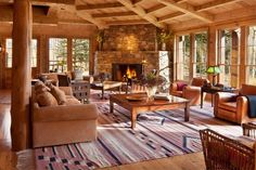 Tom Cruise - Built in 1994, the movie star's quintessential mountain retreat encompasses seven bedrooms and nine bathrooms.