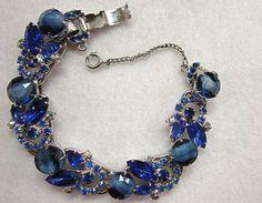 Juliana Blue White Striped Stone Bracelet by COBAYLEY on Etsy, $125.00
