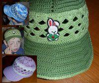 Kšilt a nakonec i celá kšiltovka o Ear Warmers, Crochet For Kids, Caps Hats, Crochet Hats, Beanie, Headbands, Boys, How To Make, Fashion