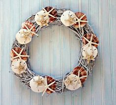 Summer is here!  Put this bleached out summery wreath on your front door to celebrate summer!