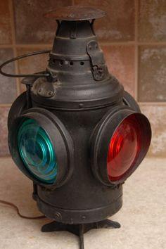 Antique Arlington Dressel N J U s A Railroad Signal Lantern Wired | eBay