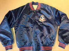 Vintage New England Patriots Old Logo Satin Button Up NFL Jacket Coat Chalk Line #ChalkLine #NewEnglandPatriots