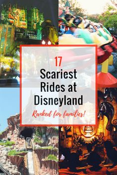 17 Scariest Rides at Disneyland and Disney California Adventure ~ Ranked for Families!